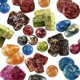 mega paczka koraliki plastikowe kamienne 6 - 18 mm
