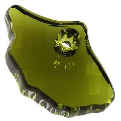 Swarovski ginko pendants olivine 13.5 x 20.0 mm