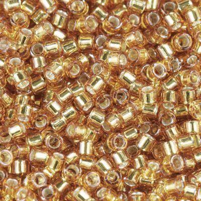Miyuki perler Delica silver lined marigold 1.6 x 1.3 mm DB-1201