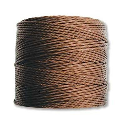 nici S-LON Tex 210 0.5 mm brown - nić do beadingu