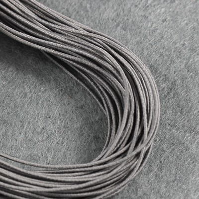 elastic jewelry rubber gray 0.8 mm