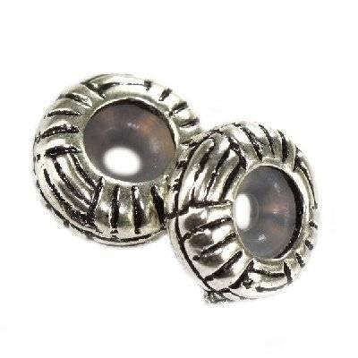 perles boules en métal séparateurs sentiers 11 x 4.7 mm
