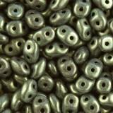 Koraliki SuperDuo metallic mat dark gold 2,5 x 5 mm / koraliki dwudziurkowe