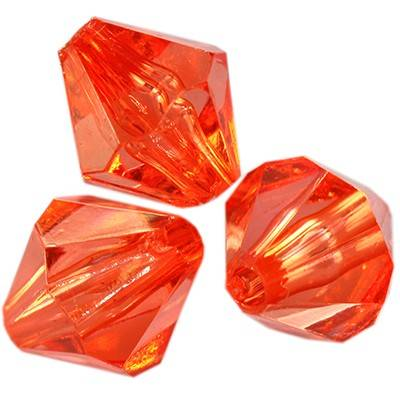 kryształki plastikowe diamentowe czerwone 8 mm