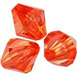 plastic bicone beads red 8 mm