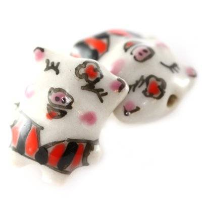 pig porcelain black 14 x 18 mm