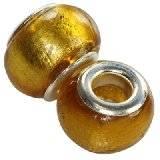 koraliki modułowe w srebrnej folii topaz 10 x 13 mm