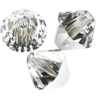 Swarovski bicone beads crystal comet argent light 4 mm