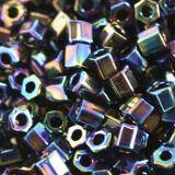 Toho beads hex metallic rainbow iris 2 mm TH-11-86