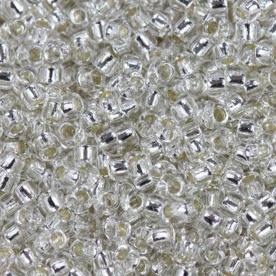 kralen Toho round silver-lined crystal 1.6 mm TR-15-21
