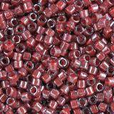 Perles Miyuki Delica cranberry lined luster crystal 1.6 x 1.3 mm DB-0280