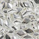 koraliki GemDuo silver plate 8 x 5 mm