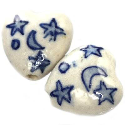 hearts traditional porcelain 15 mm