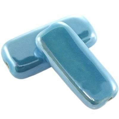 ciegiełki porcelanowe błyszczące błękitne 16 x 36 mm