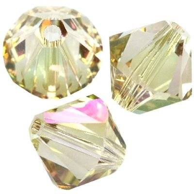 Swarovski bicone beads crystal luminous green 4 mm