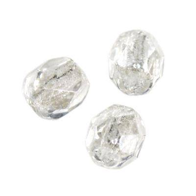 Czech Fire Polished beads 4mm round crystal luster