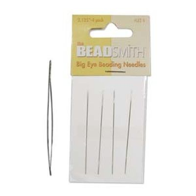Beadsmith needle lge eye 5.40 cm 4 pcs