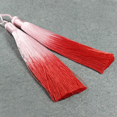 tassels ombre red 13 cm