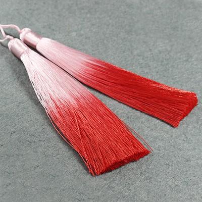 chwosty ombre czerwone 13 cm