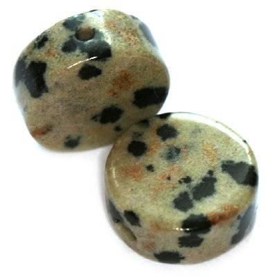 pastylki jaspis dalmatyńczyk 12 mm kamień naturalny