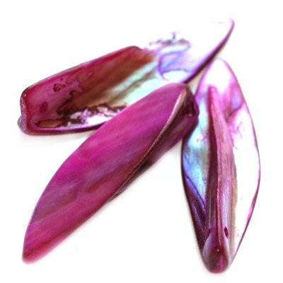 mother of pearl arrows fuchsia 3.5-5 cm
