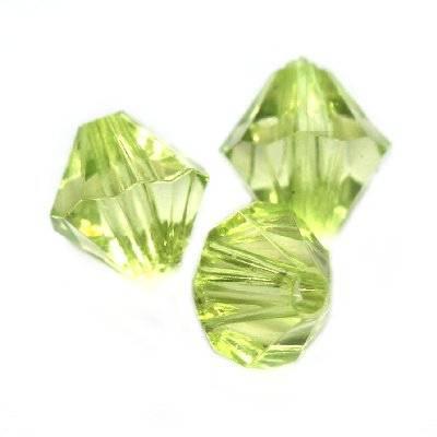 plastic bicone beads green 8 mm