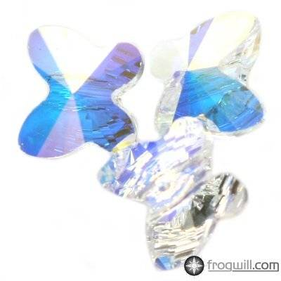 Swarovski butterfly beads crystal ab 6 mm