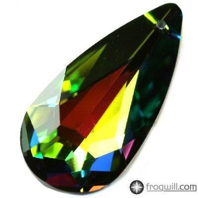 Swarovski teardrop pendants crystal vitrail medium 24 x 12 mm