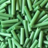 glaspärlor tuber gröna 9 mm
