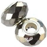 perles modulaires cristales argentées 10 x 14 mm