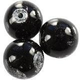 koraliki galactic czarne 14 mm