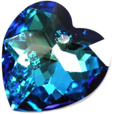 Swarovski heart pendants crystal bermuda blue p 18 mm