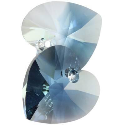 Swarovski heart pendants crystal - mont. blend 14,4 x 14 mm