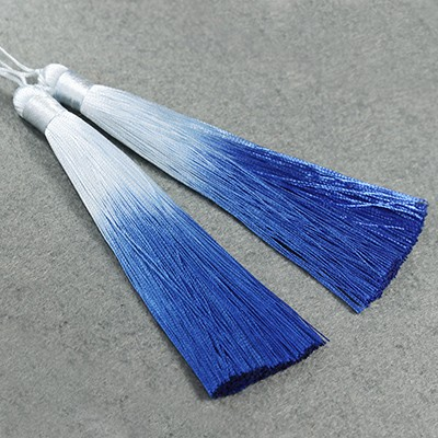 Quasten ombre blue 13 cm