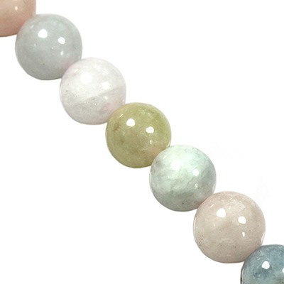 morganite beads 6 mm / semi-precious stone