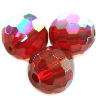 kule szlifowane połysk czerwone 12 mm / koraliki szklane