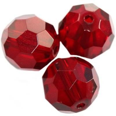 kryształki okrągłe czerwone 12 mm