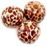 round wooden beads jaguar 16 mm