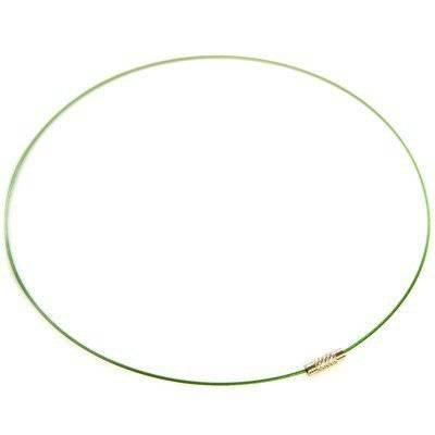necklace necklace steel wire cord green