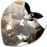 Swarovski heart pendants crystal satin 18 mm