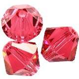 Swarovski bicone beads indian pink 4 mm
