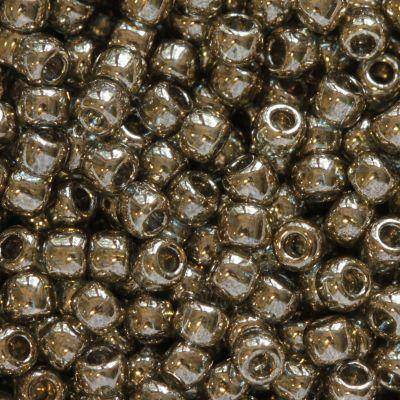 Toho beads round gold-lustered montana blue 2.2 mm TR-11-204