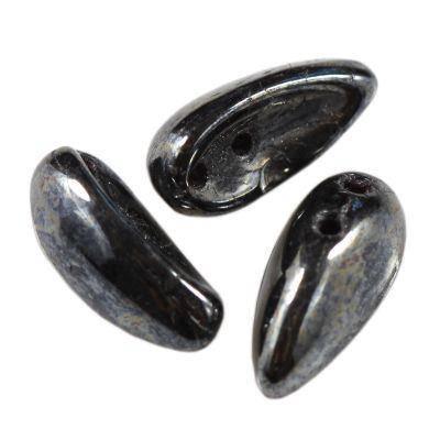 perles Preciosa Chilli hematite 11 x 4 mm