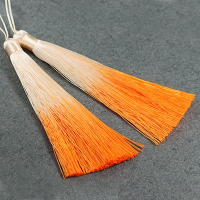 gland pendentifs ombre orange 13 cm