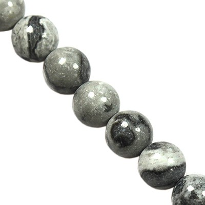 black land jasper beads 4 mm / semi-precious stone