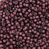 Perles Miyuki rocailles 11/0 fancy lined aubergine #11-386
