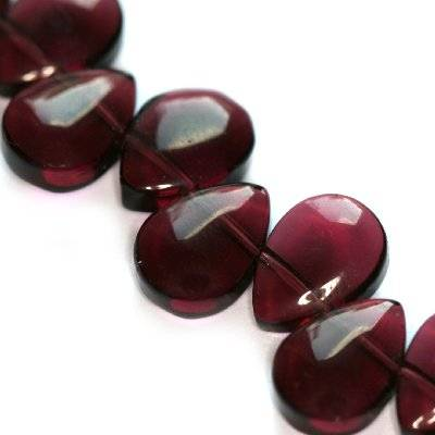 glass beads teardrop smooth amethyst 8 x 11 mm