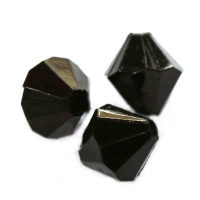 diamant kristalletjes kunststof zwart 8 mm