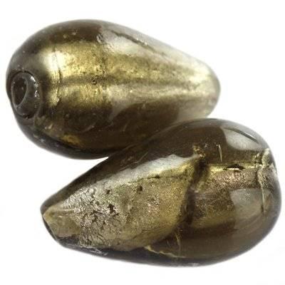 Lamppuhelmet hopea kyynel putoaa musta 12 x 20 mm