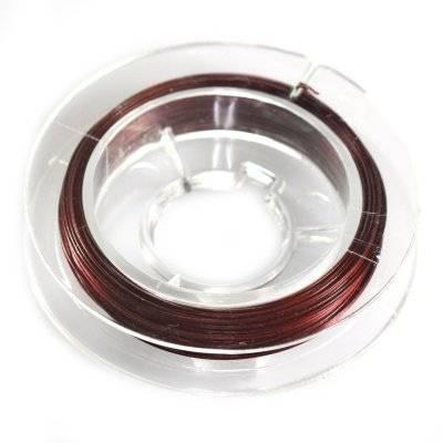 steel wire burgundy 0.45 mm